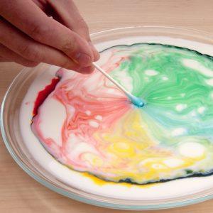 evde yapabileceğiniz deneyler: gıda boyası ve süt deneyi